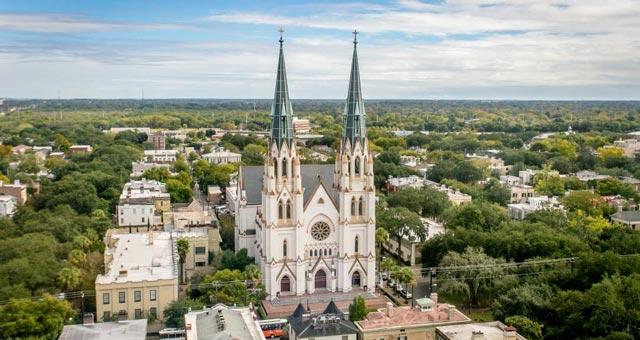 Savannah (Georgia) Arquitectura colonial majestuosa